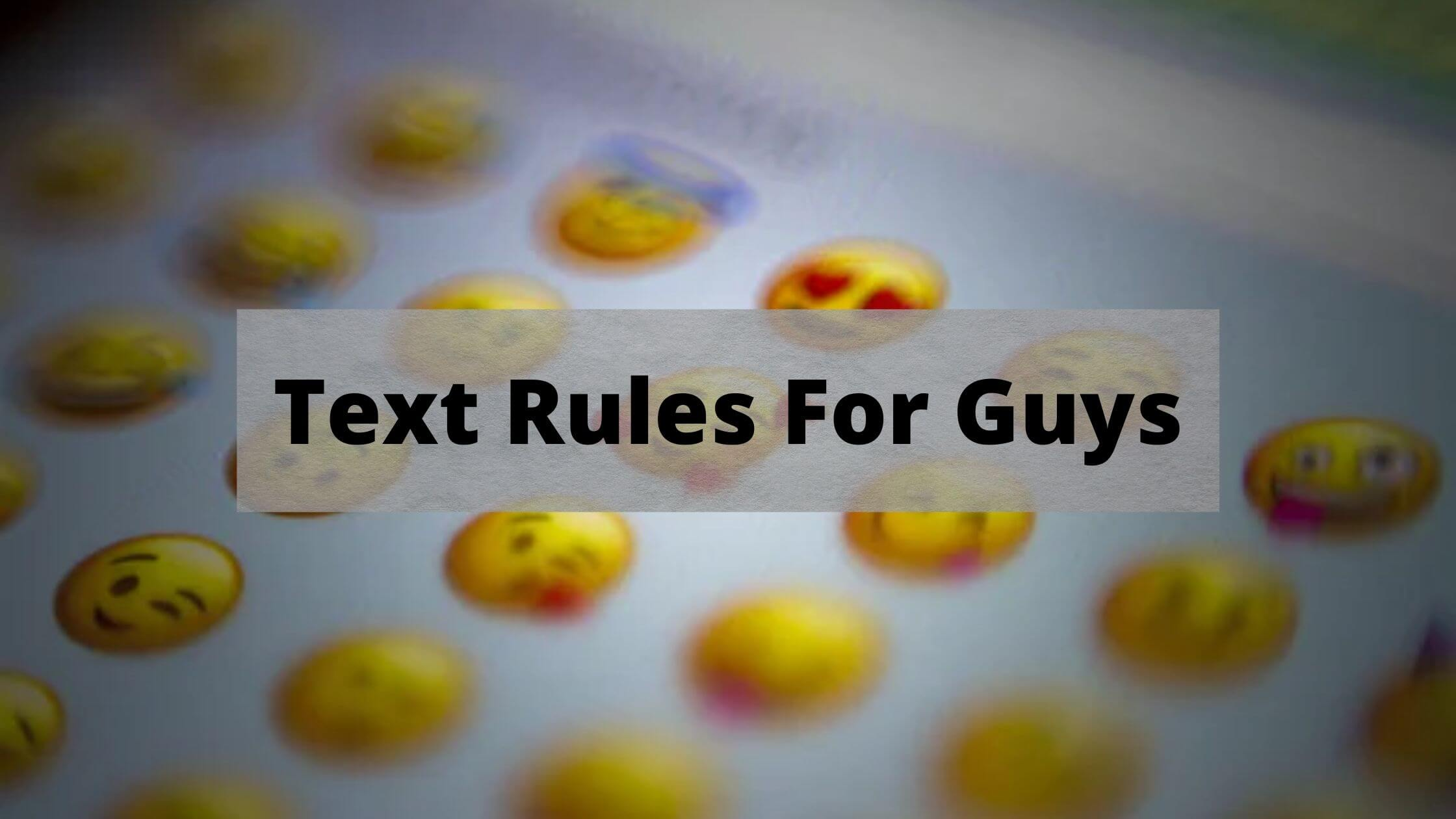 text rules for guys